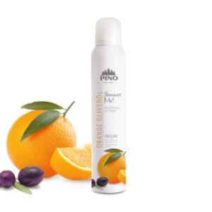 PINO Duschschaum Orange Olivenöl 200ml - LebensForm Shop
