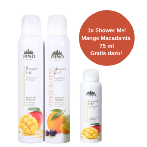 PINO Shower Me Duschschaum Set - 2x200 ml - FRESH (1x Mango Macadamia 75 ml gratis dazu!)