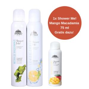 PINO Shower Me Duschschaum Set - 2x200 ml - SPICE (1x Mango Macadamia 75 ml gratis dazu!)