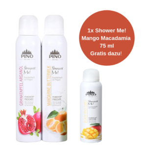 PINO Shower Me Duschschaum Set - 2x200 ml - TROPIC (1x Mango Macadamia 75 ml gratis dazu!)