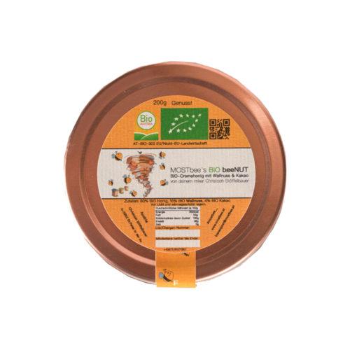 BIO Walnuss Cremehonig 200g Deckel MOSTbees Honig - LebensForm Shop
