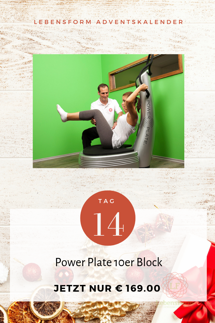 Power Plate Aktion - Lebensform Adventkalender