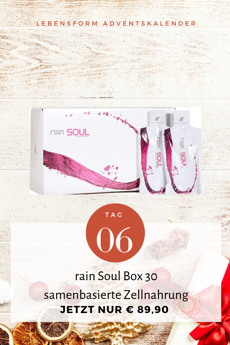 Aktion rain Soul Box 30 – samenbasierte Zellnahrung